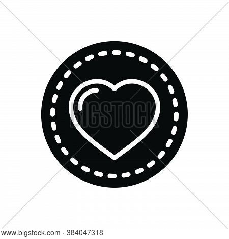 Black Solid Icon For Heart Feeling Love Affection Impulse Cardiology Romance