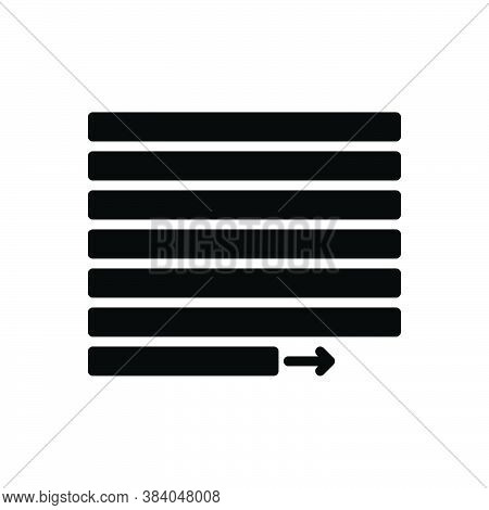 Black Solid Icon For Justify Vindicate Document Layout Interface Alignment Align Contend Verify