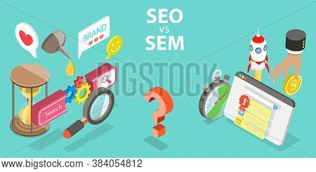 Seo Vs Sem, Difference Between Search Engine Optimization And Marketing.