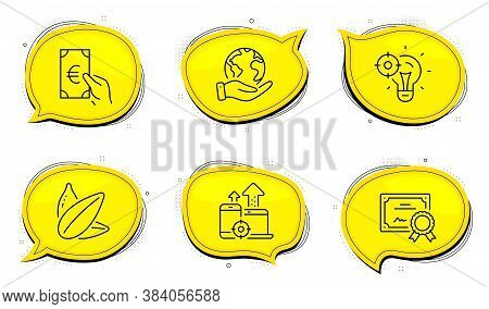 Finance Sign. Diploma Certificate, Save Planet Chat Bubbles. Seo Idea, Seo Devices And Sunflower See