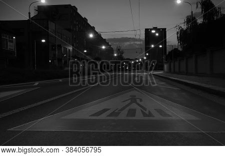 Chomutov, Czech Republic - August 09, 2020: Traffic Sign On Palackeho Street