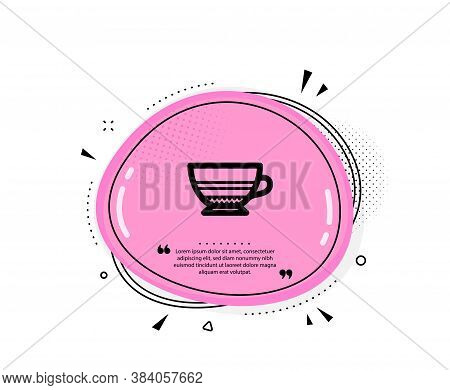 Mocha Coffee Icon. Quote Speech Bubble. Hot Drink Sign. Beverage Symbol. Quotation Marks. Classic Mo