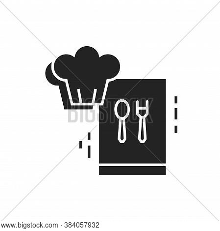 Cooking Courses Black Glyph Icon. Food Masterclass. Culinary School, Food Workshop, Chef Kitchenware