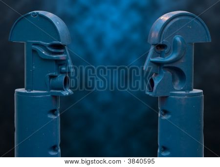 Blue Faceoff-Clipping Path