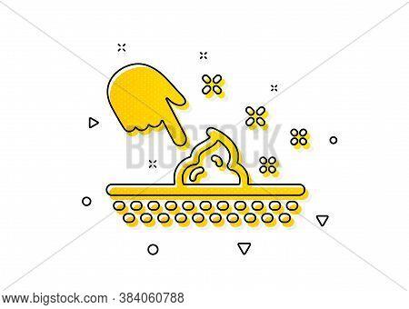 Body Or Face Care Sign. Skin Moisture Icon. Moisturizing Cream Symbol. Yellow Circles Pattern. Class