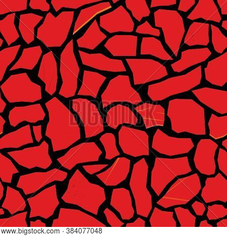 Mosaic Tile Texture. Abstract Background, Seamless Pattern. Great For Print On Fabric And Wrapping P
