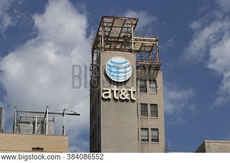 Toledo - Circa September 2020: At&t Central Office. At&t Wrapped Up Its Merger With Warnermedia And