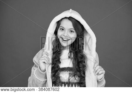 Cheerful And Positive. Wear Warm Clothes When Its Cold. Fashion For Kids. Childhood Happiness. Child