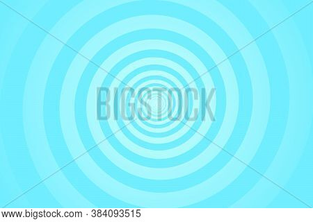 Turquoise Spiral Background. Swirl, Circular Shape On Turquoise Background.