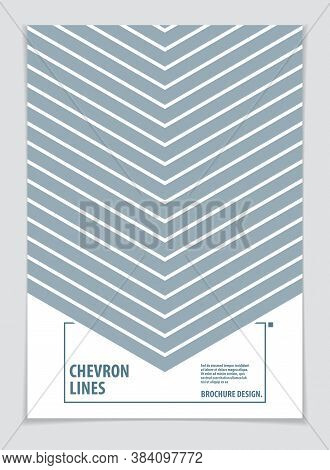 Modern Minimal Template Brochure, Leaflet, Poster. Vector Geometric Pattern Abstract Background. Str