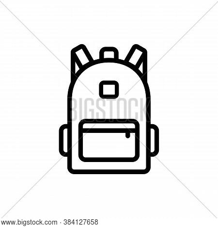 Backpack, Bag Line Icon. Back To School. Expedition. Vector On Isolated White Background. Eps 10