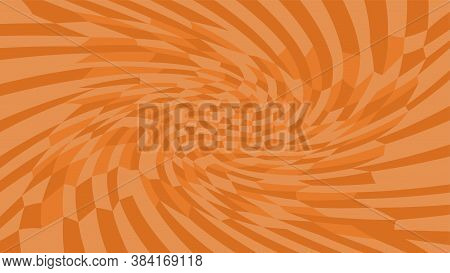 Brown Twirl Wave Pattern Abstract For Background, Optical Wave Twirl Brown Color, Hypnotic Concept