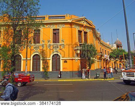 Lima / Peru - 30 Apr 2011: The Building In Lima City, Peru, South America