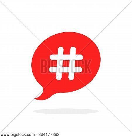 Hashtag Icon Like Relevant Content. Flat Cartoon Style Trendy Modern Minimal Logotype Graphic Creati