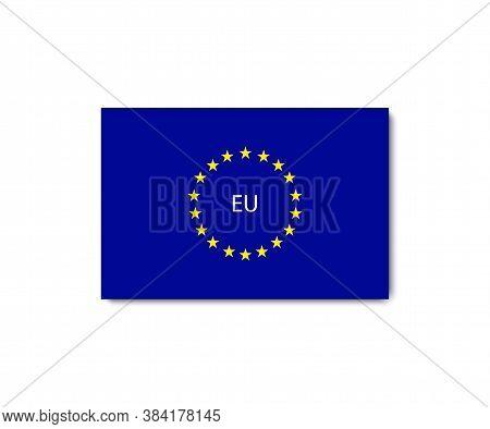 Europe Flag. Europe Union Sign. Eu Flag. Vector Illustration