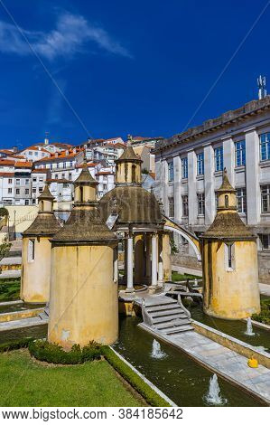 Coimbra old town in Portugal - architecture background
