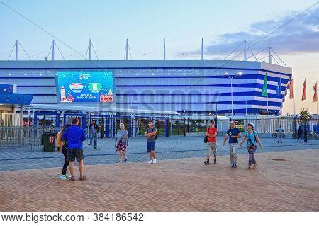 Kaliningrad, Russia - June 16, 2018: View Of The Modern Kaliningrad Football Stadium (arena Baltika)