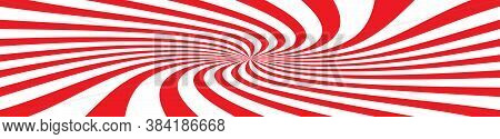 Red Rays Background. Red Abstract Background. Red Rays. Spiral Effect. Vector Illustration