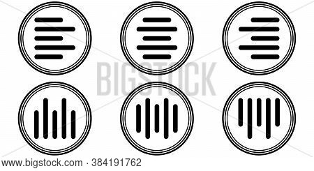 Set Icons Horizontal And Vertical Alignment, Align-center, Vector Sign Symbol Align Center Text, Par