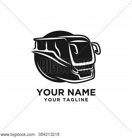 Modern Bus Symbol, Stylized Icon For Logo Or Emblem Template