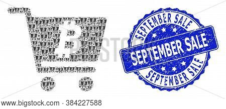 September Sale Corroded Round Seal Imitation And Vector Recursive Mosaic Bitcoin Webshop. Blue Seal