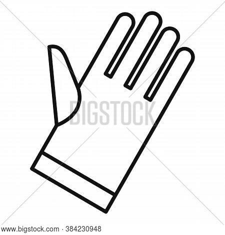 Tiler Glove Icon. Outline Tiler Glove Vector Icon For Web Design Isolated On White Background