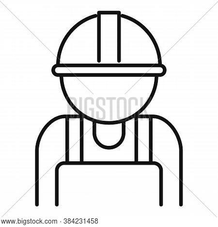 Tiler Man Icon. Outline Tiler Man Vector Icon For Web Design Isolated On White Background