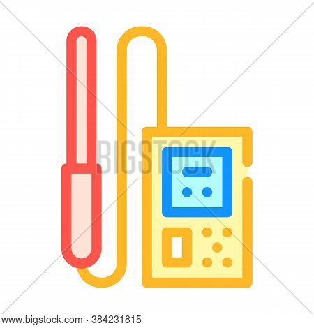 Electromagnetic Field Detector Measuring Equipment Color Icon Vector Illustration