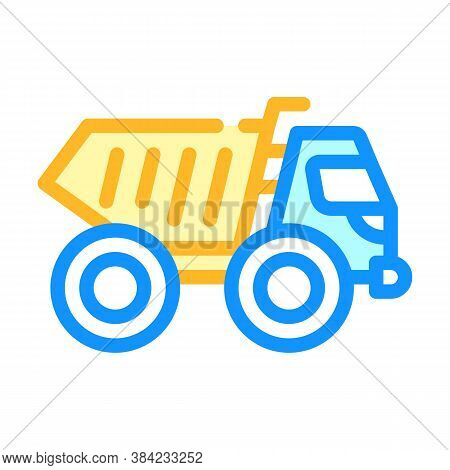 Articulated Dumper Color Icon Vector Isolated Illustration