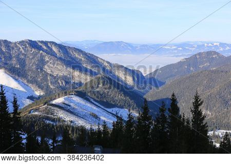 landscape with winter walley in Tatra mountains, Slovakia
