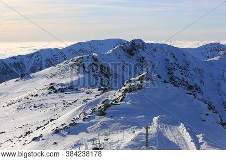 winter landscape in Low Tatra mountains in Slovakia
