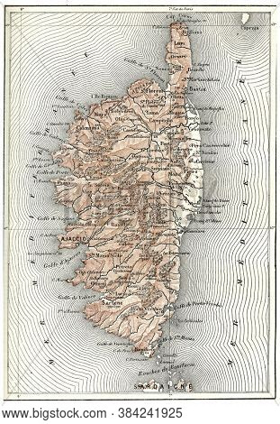 Department of Corsica, From the Dictionary of Word and Things, 1888.