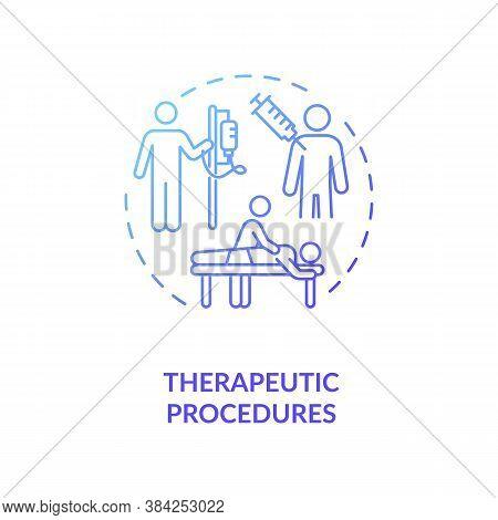 Therapeutic Procedures Concept Icon. Medical Service, Diseases Treatment Idea Thin Line Illustration