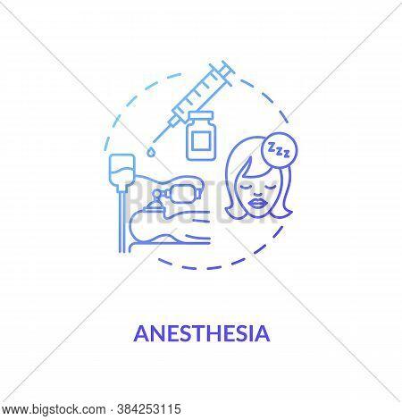 Anesthesia Concept Icon. Medical Sedation, Healthcare Service Idea Thin Line Illustration. Anestheti