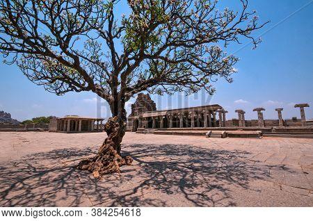 April 11th 2016 Hampi Karnataka India : Inside Image Of Vittala Temple Hampi Karnataka India.