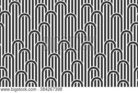 Linear Seamless Background With Twisted Lines, Vector Abstract Geometric Pattern, Stripy Weaving, Op