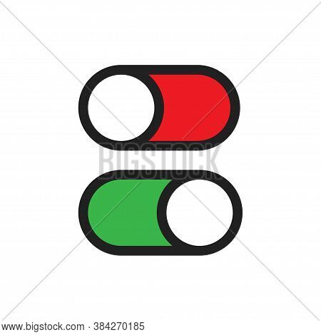 Off Ic, Design For Any Purposes. Switch Button. Line Vector Power Icon Illustration.