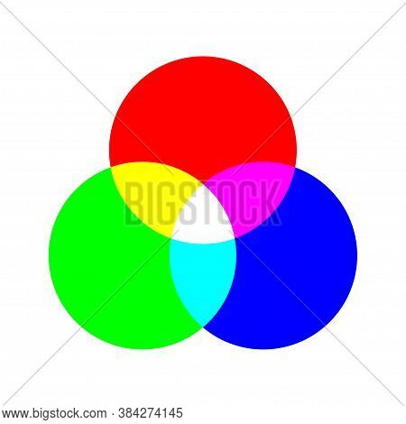 Rgb Color Concept Illustration. Pie Chart Icon In Flat.
