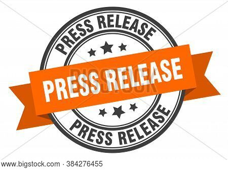 Press Release Label. Press Release Round Band Sign. Stamp