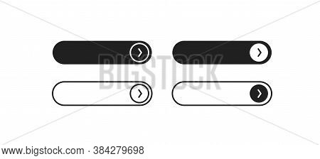 Read More Button, Icon For Web Design. Vector Isolated Continue Concept In Flat