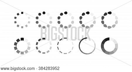 Circle Loader Bar, Icon, For Your Design. Load Vector Simbol Illustration In Flat