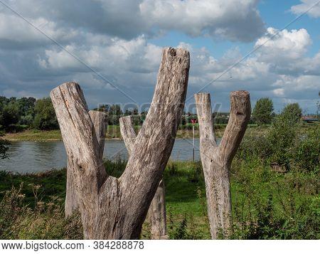 the river Ijssel near zutphen in the netherlands