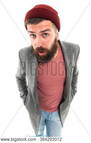 Tips And Tricks Handsome Man. Attractive And Handsome. Bearded And Handsome. Self Improvement Concep