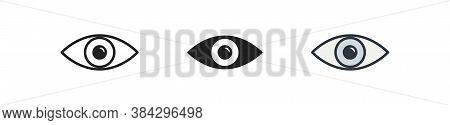 Eye, Simple Icon Set. Look Cincept Illustration, See Symbol In Vector Flat