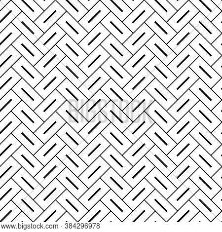 Herringbone Pattern. Rectangle Slabs Tessellation. Seamless Surface Design With Slanted Blocks Tilin