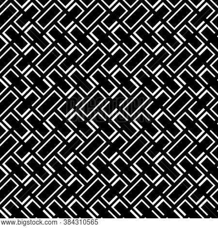 Geometrical Abstract. Slanted Curves And Figures. Diagonal Loops Pattern. Seamless Surface Design Wi