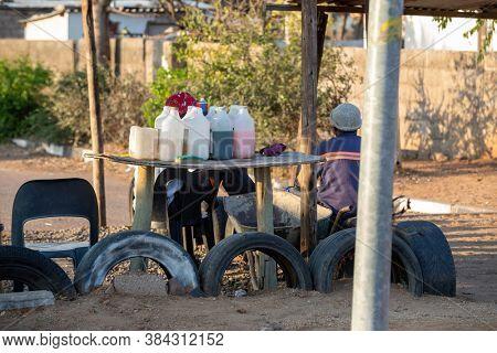 street vendors of chemicals in the roads of Gaborone Botswana