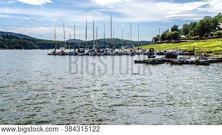 Marina In Summer On Edersee In Hessen - Germany