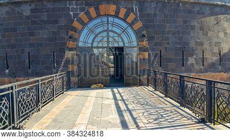 Gyumri, Shirak Province / Armenia - September 1, 2020. Sev Bird Or Black Fortress. Black Castle. An