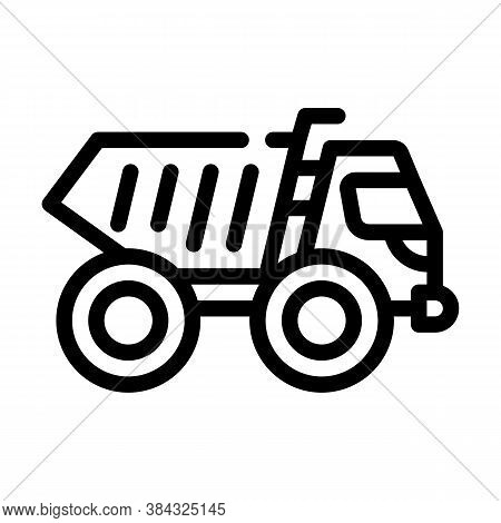 Articulated Dumper Line Icon Vector Isolated Illustration
